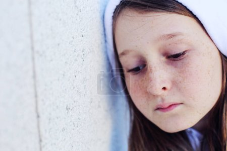 Photo for Portrait of beautiful teenage girl outdoor - Royalty Free Image