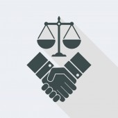 Legal agreement symbol icon