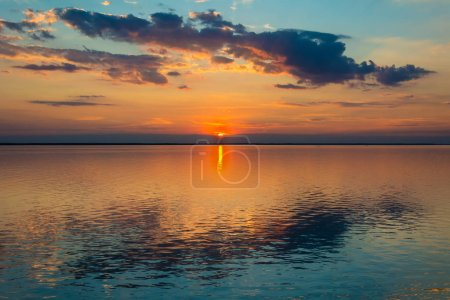 Photo for Fabulous sunset over the northern lake - Royalty Free Image