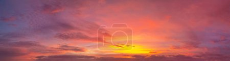 Photo for Amazing View of Red Sunset over Tenerife Island - Royalty Free Image
