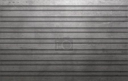 Photo pour Fond de mur rayé texturé métallique - image libre de droit