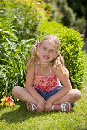 Photo for Portrait of little blond girl - Royalty Free Image