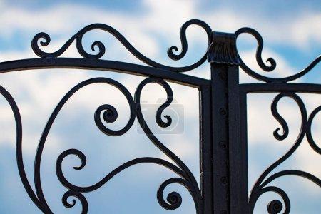 Photo pour Beaux éléments décoratifs en métal forgé portes en fer forgé . - image libre de droit