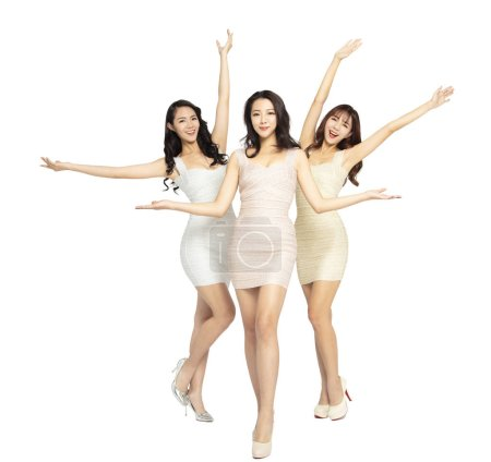 Photo for Full length of beautiful young woman group - Royalty Free Image
