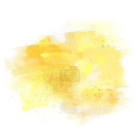 Photo pour Couleurs du soleil Aquarelle aquarelle artistique fond isolé sur blanc avec espace de copie - image libre de droit