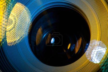 camera lens macro closeup flare