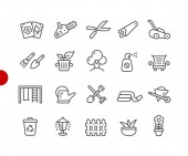 Garden and Gardening Icons // Red Point Series - Vector line icons for your digital or print projects