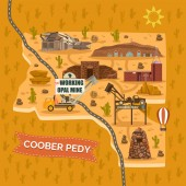 Landmark map for Australian Coober Pedy town city