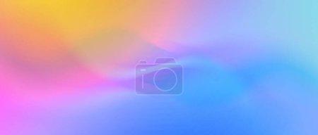 Foto de Ondulado abstracto colores lisos fondo, mezcla de gradiente colorido - Imagen libre de derechos