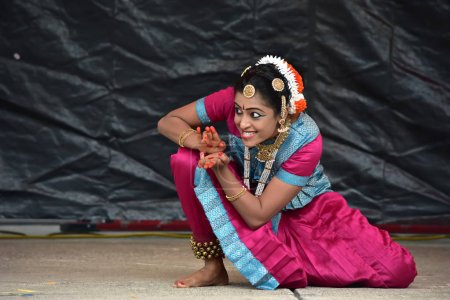 Bloomington, Illinois- USA - Jun 24,2018 - Ratha Yatra Festival Classical Dance Performance