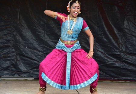 Bloomington, Illinois- USA - Jun 24,2018 - Indian classical dance performance