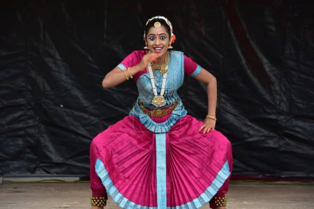 Bloomington, Illinois- USA - Jun 24,2018 - Classical Indian dance at Chariot Festival