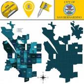Map of San Bernardino CA with Neighborhoods