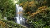 Autumn Yunshen waterfall in New Taipei City Sanxia District, New Taipei City, Taiwan