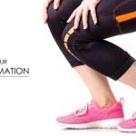 Female legs sports leggings sneakers sports exerci...