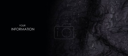Black fabric texture material sparkles sequins shine pattern
