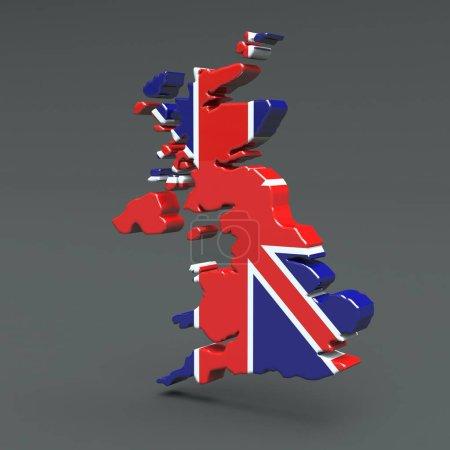 Photo pour Europe Carte 3D isolée sur fond sombre Illustration - image libre de droit