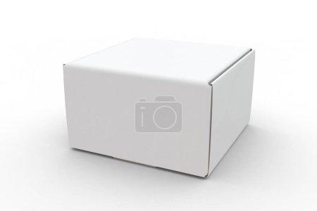Photo for White box isolated on white background with shadow mock-up Illustration - Royalty Free Image