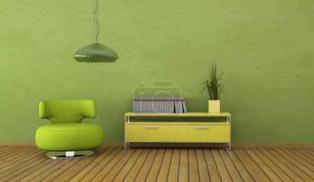 Photo for Interior design modern bright room with armchair 3d Illustration - Royalty Free Image