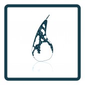 Icon of Pear Shadow reflection design Vector illustration
