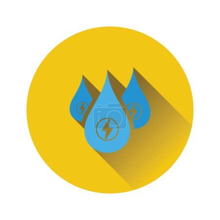 Photo for Hydro energy drops  icon. Flat color design. Vector illustration. - Royalty Free Image