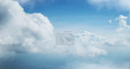 Photo for Dramatic blue sky background with white clouds - Royalty Free Image
