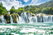 Beautiful Skradinski Buk Waterfall In Krka National Park