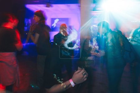 Photo for October 28-29, 2017 Minsk Belarus Art space Top Party dedicated to the holiday HELLOWEEN A group of people in makeup and costumes are in a nightclub - Royalty Free Image