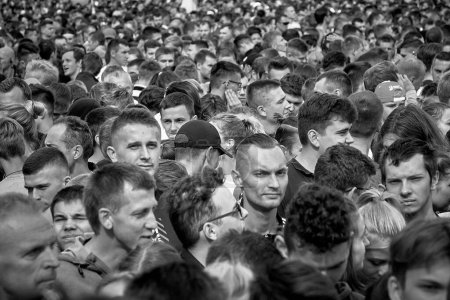 September 15, 2019 Minsk Belarus There is a large crowd of unknown people on the square