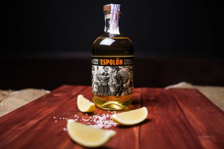 """Espolon, is a premium class tequila, which is produced 100% from Agave, plantations are located on the highlands of Los Altos in the state of Halisico. Tequila is produced at the factory """"Destiladora San Nicolas"""",Ukraine.Kiev sept 2018"""