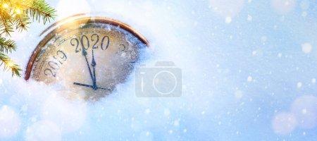Foto de 2020 Navidad y nuevos años invitación banner fondo - Imagen libre de derechos