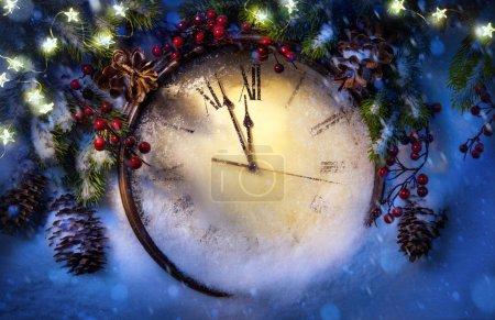 Foto de Feliz año nuevo; Tarjeta de felicitación navideña - Imagen libre de derechos