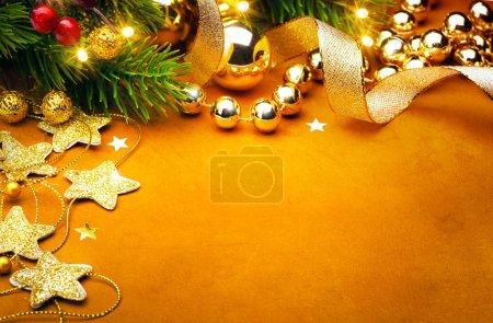 Foto de Decoración de la Navidad en estilo vintage - Imagen libre de derechos