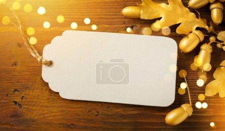 Foto de Autumn sales season background; offer Sale discount banne - Imagen libre de derechos