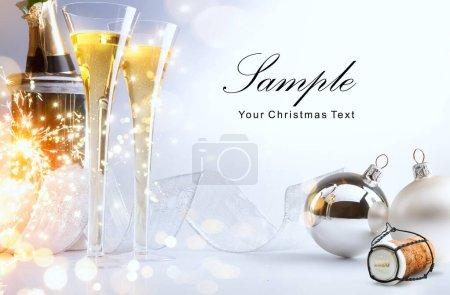 Foto de Art Christmas or New Year's party; Merry and Bright 2020 - Imagen libre de derechos