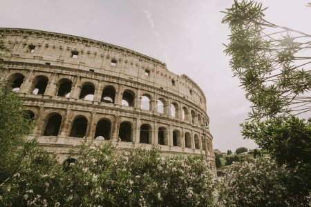View at antique Colosseum in Rome, Italy