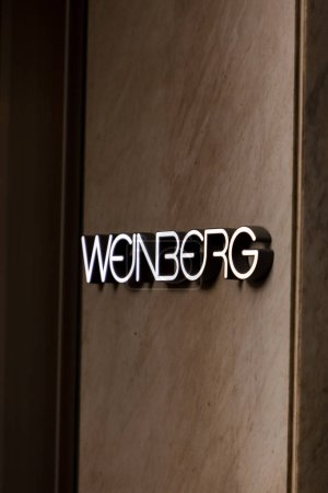 ZURICH, SWITZERLAND - MAY 17, 2018: Detail of Weinberg fashion company store at Bahnhofstrasse in Zurich. This store was inaugurated at 1954.