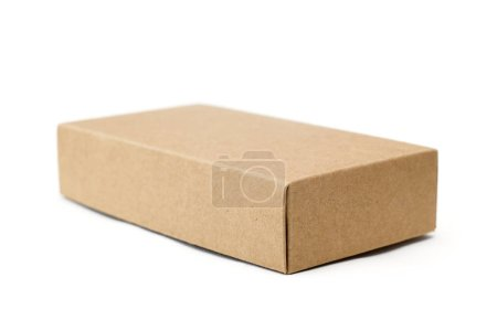 Photo for Cardboard box isolated on the white - Royalty Free Image