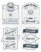 Set of vintage template quotes 02