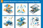 Isometric bussiness and technolodgy illustrations 01