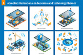 Isometric bussiness and technolodgy illustrations 02