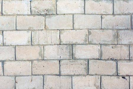 Photo pour Fond blanc avec texture de brique - image libre de droit