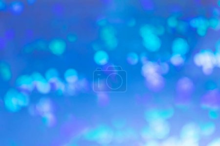 Photo for Bright blue abstract background. Spots and lights in blur. - Royalty Free Image