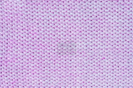 Photo for Wool fabric. Large knitted texture closeup. Lilac blank background for layouts. - Royalty Free Image