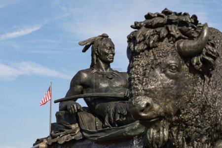 Photo pour Philadelphie, Etats-Unis - 19 septembre 2018: George Washington monument à Philadelphie. La statue construite en 1897 par Rudolf Siemering (1835-1905). - image libre de droit