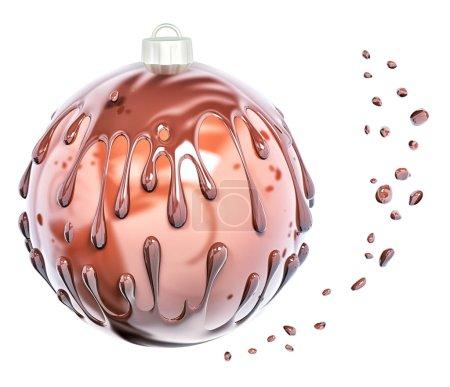 Foto de Chocolate Navidad adorno Resumen antecedentes, aislado render 3d - Imagen libre de derechos