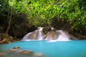 Erawan Waterfall in Thailand is locate in Kanchanaburi Provience
