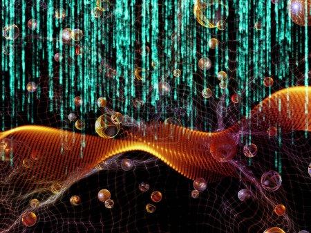 Mathe-Universum-Serie. Hintergrund aus Ziffern und Raumelementen zur Ergänzung Ihres Entwurfs zum Thema Mathematik, Naturwissenschaften, Bildung und moderne Technologie