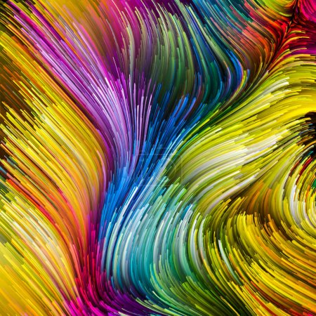 Color In Motion series. Design made of Flowing Paint pattern to serve as backdrop for projects related to design, creativity and imagination to use as wallpaper for screens and devices