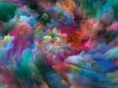 """Постер, картина, фотообои """"Абстрактный цвет серии. Художественной абстракции, состоящий из красочных краски в движении на холсте на тему Искусство, творчество и воображение"""""""